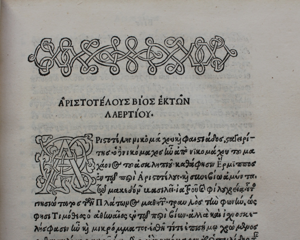 Aristotle vol 2 text and capital.
