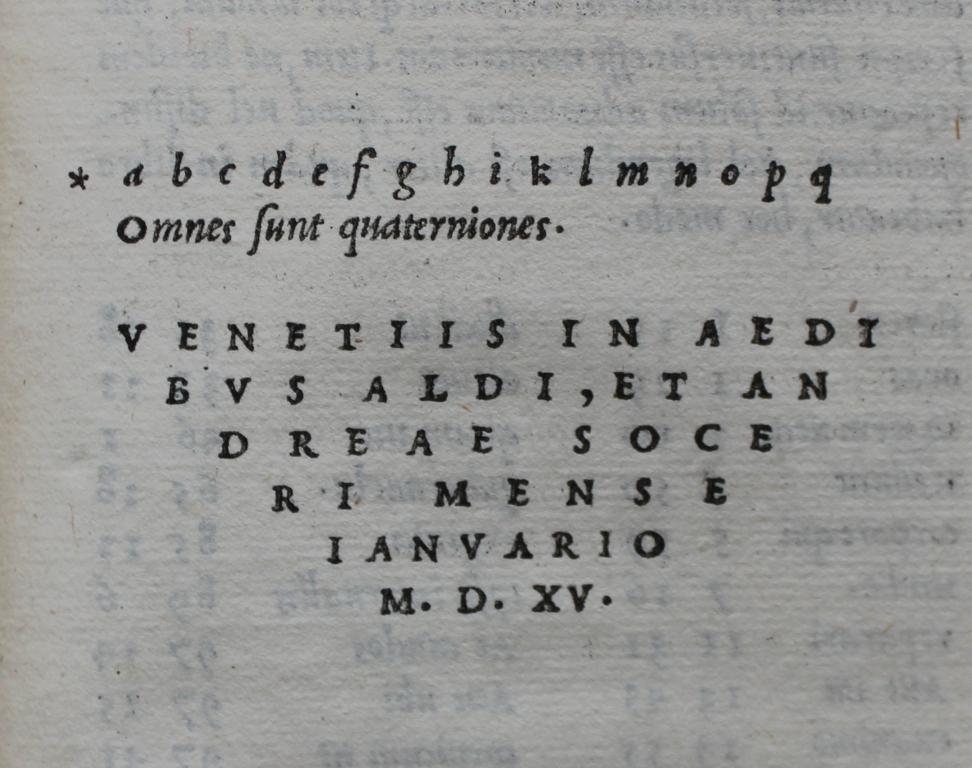 Lucretius 1515 - last Aldine.