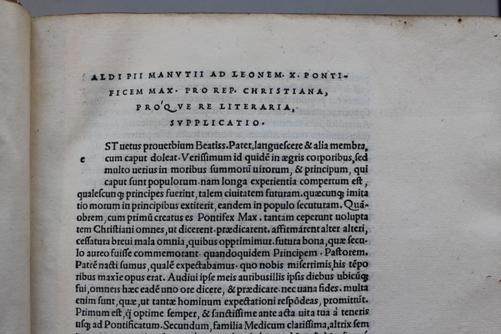 Plato 1513 dedication.