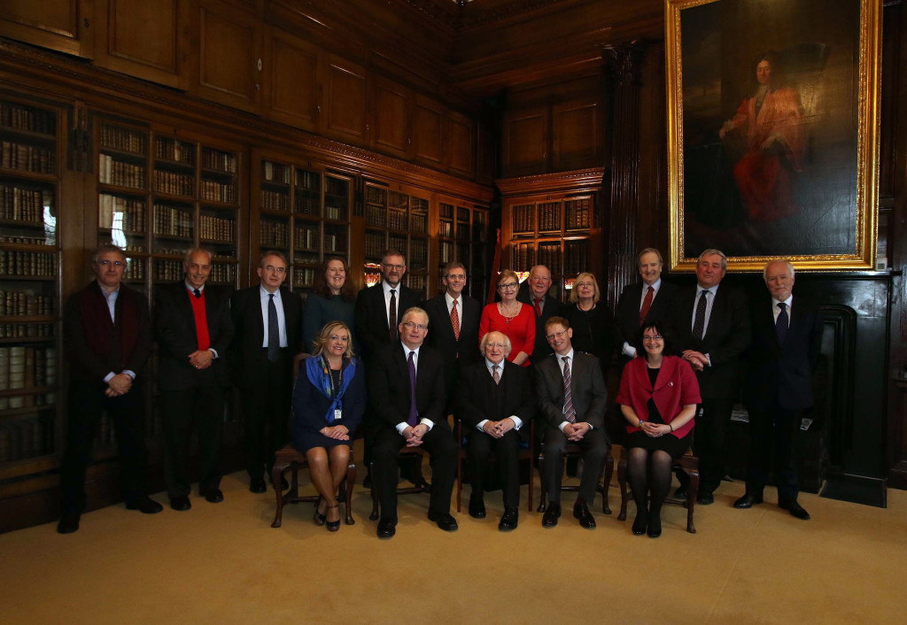 27-11-2015- NEWS - Image from the presidential visit to the Edward Worth Library, Dr Steevens' Hospital, Dublin. Picture Nick Bradshaw