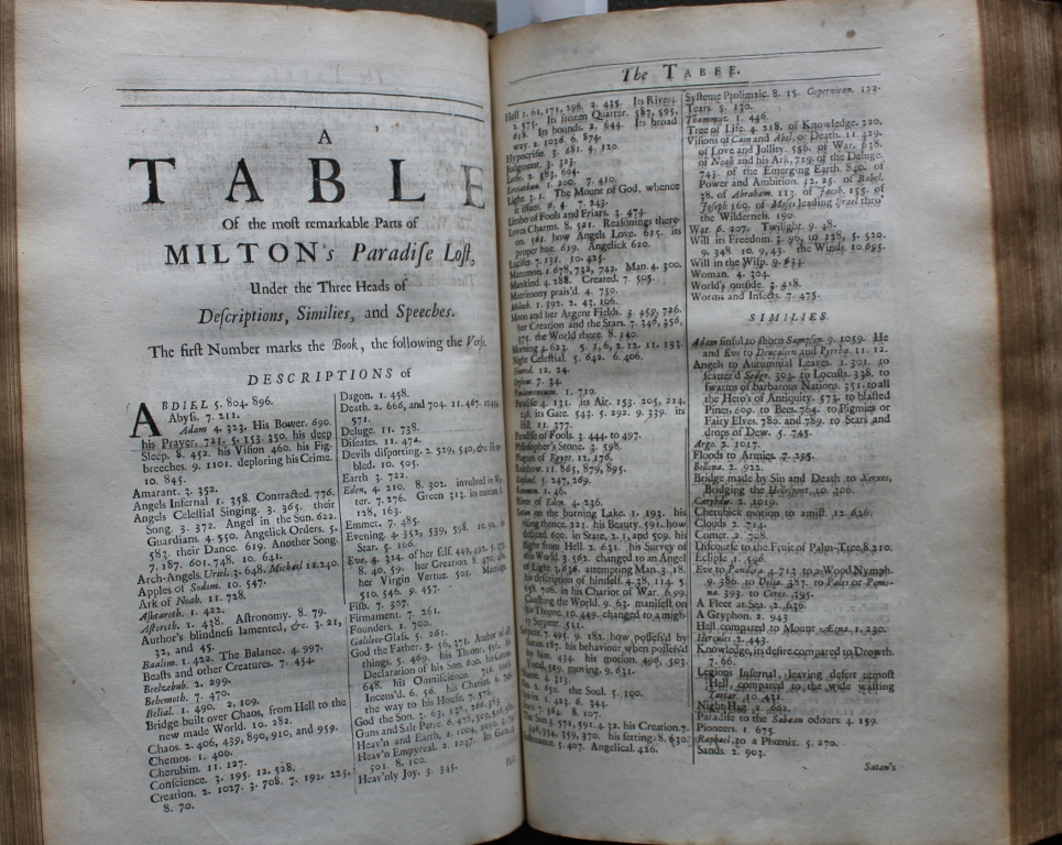 Fig. 4 - Milton table